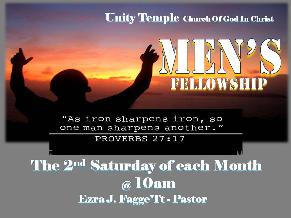 new church men The priority of new life men's ministry's to raise up and disciple men who will become god fearing men in their homes and communities stay tuned for upcoming meetings.